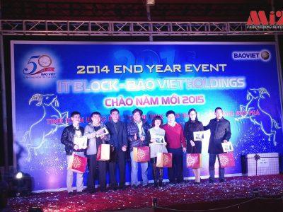 """Mi2 tham dự Chương trình giao lưu cuối năm 2014"""" của khối công nghệ thông tin Tập đoàn Bảo Việt ngày 16/01/2015."""