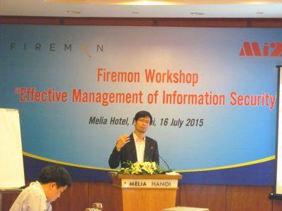 """Công ty Mi2 phối hợp với hãng Firemon tổ chức hội thảo """" Quản lý an ninh thông tin hiệu quả"""" tháng 07/2015."""