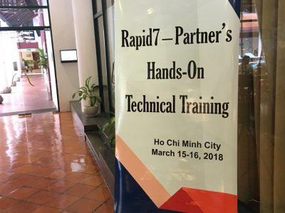 Rapid7 đào tạo sản phẩm cho đối tác tại HN và HCM