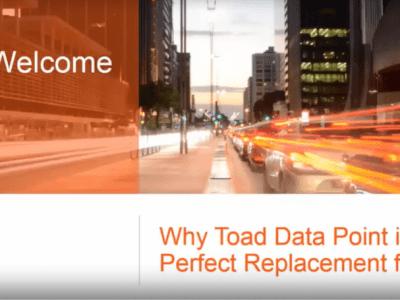Vì sao Toad Data Point là sự thay thế hoàn hảo cho Brio?