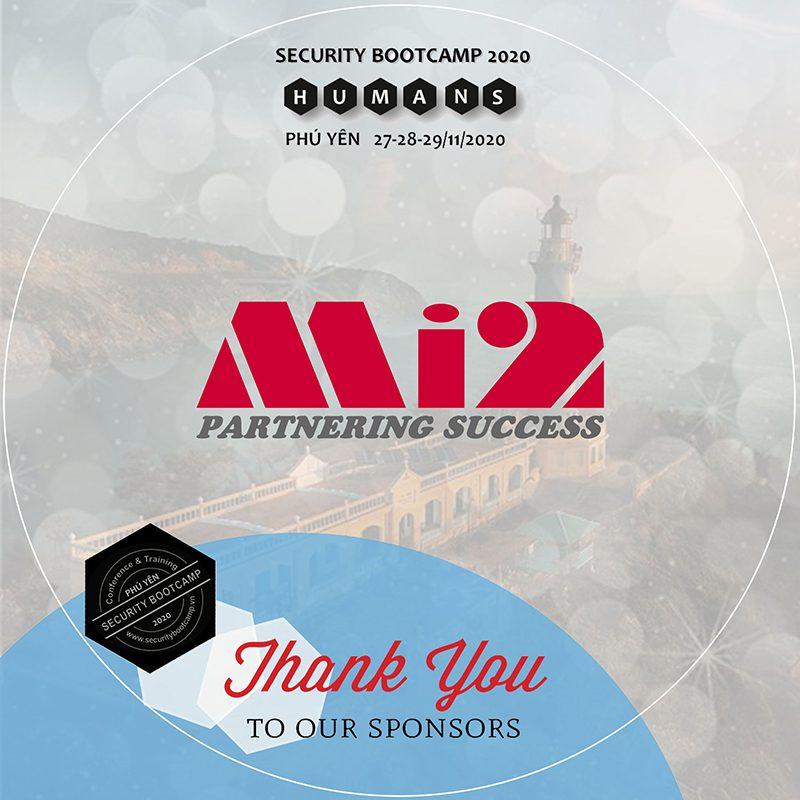 Mi2 đồng hành với tư cách nhà tài trợ trong các sự kiện thường niên của cộng đồng Security Bootcamp.